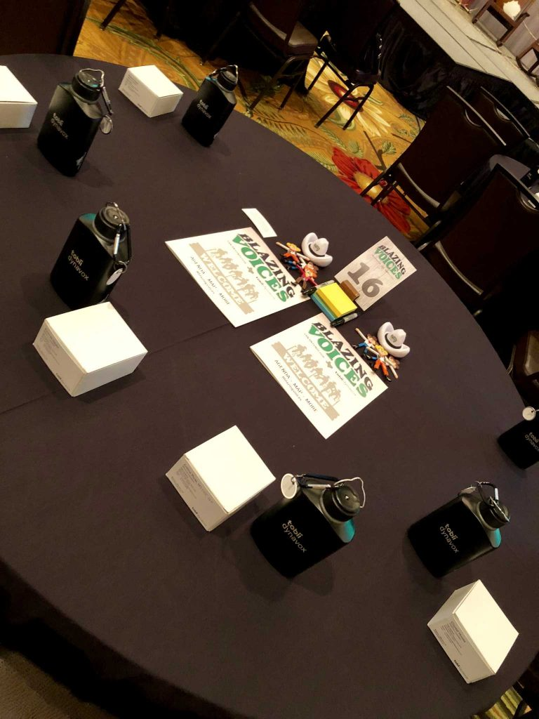 Custom branded agenda, premiums and fidgets for a sales meeting with a Texas theme in San Antonio, Texas.