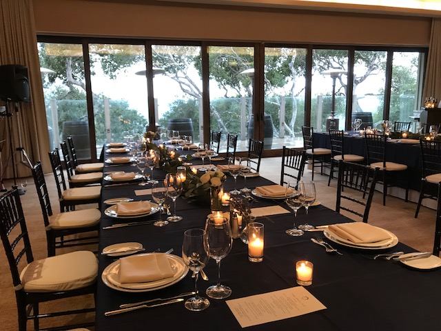 A private dinner for a group of top sales executives overlooking picturesque Carmel Valley.