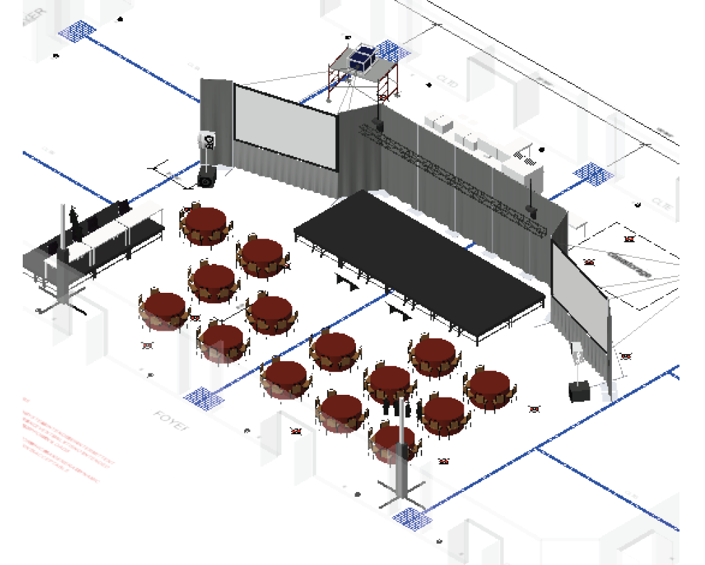 A CAD rendering for an Innovation Summit in Charlotte, North Carolina.