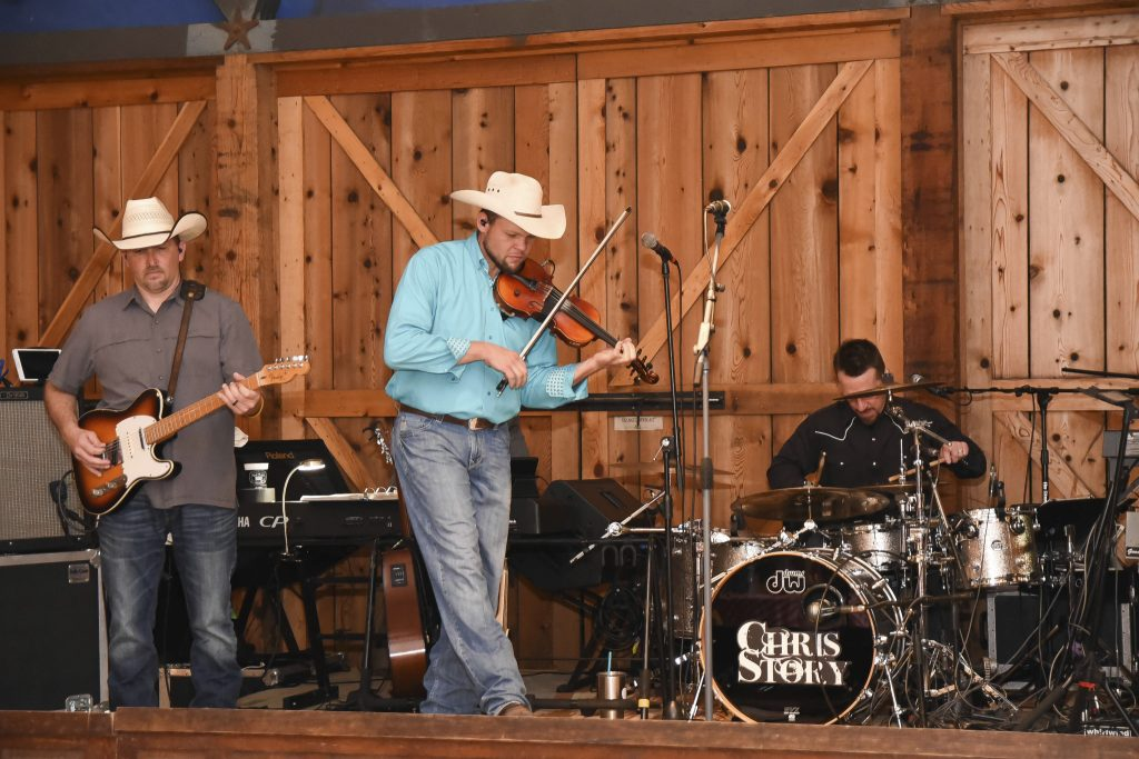 The Chris Story Band never disappoints, entertaining a group of sales executives at a private ranch in the Hill Country of Texas.