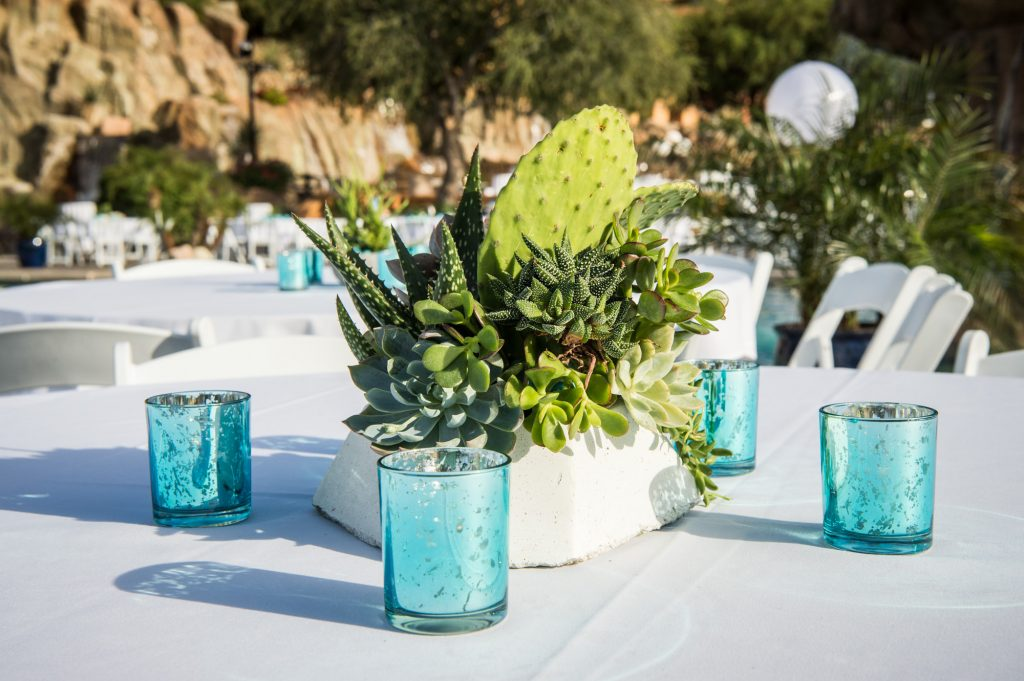 A desert-themed welcome reception for a corporate event in the valley of Arizona.