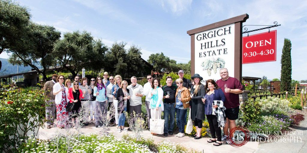 Top sales executives are rewarded with a private winery tour in Napa, California.