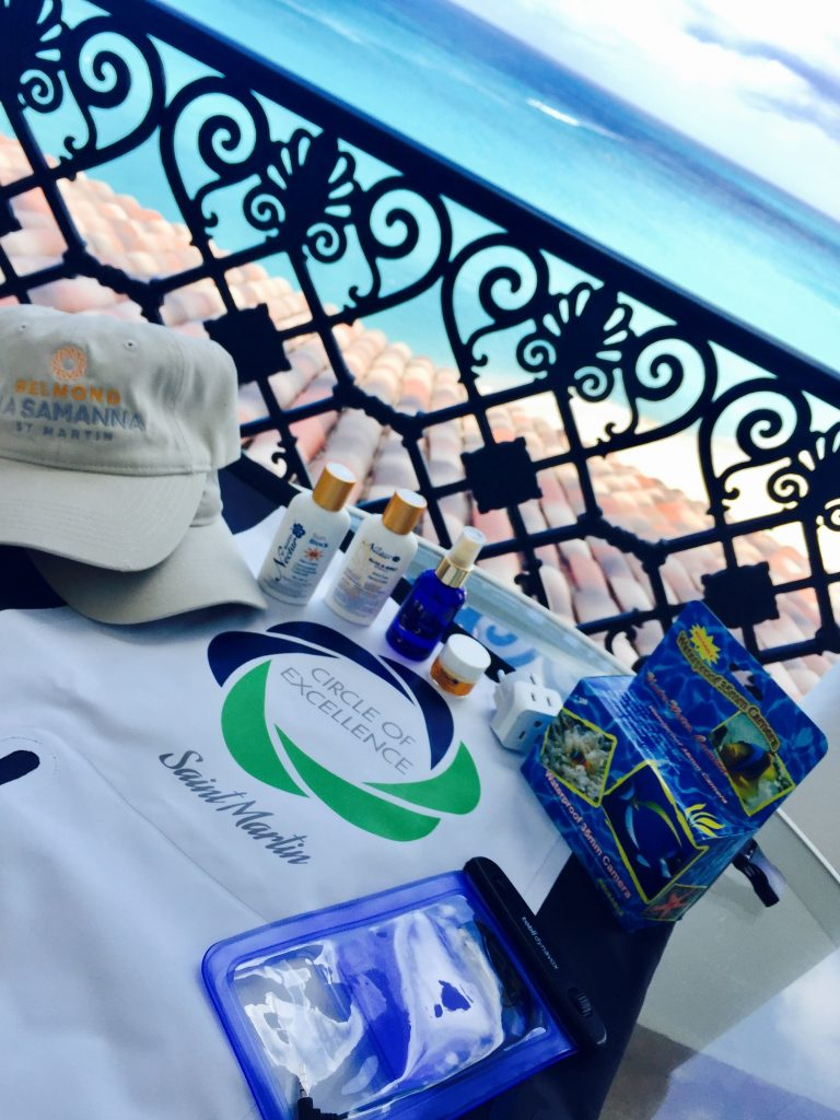Guests at a corporate incentive trip are greeted with a bag full of necessities needed for the beach in St. Maartin.