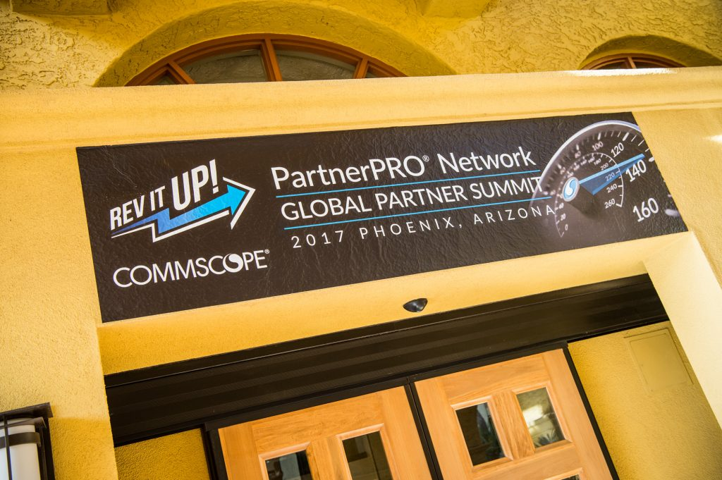 Personalized welcome to over 400 partners, arriving from around the world.