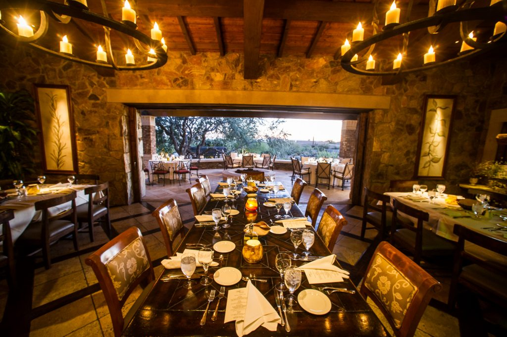 Beautiful setting in Scottsdale, Arizona for a private corporate dinner.