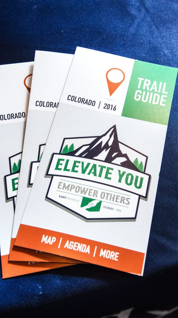 A customized agenda for a conference in the mountains of Beaver Creek Colorado.