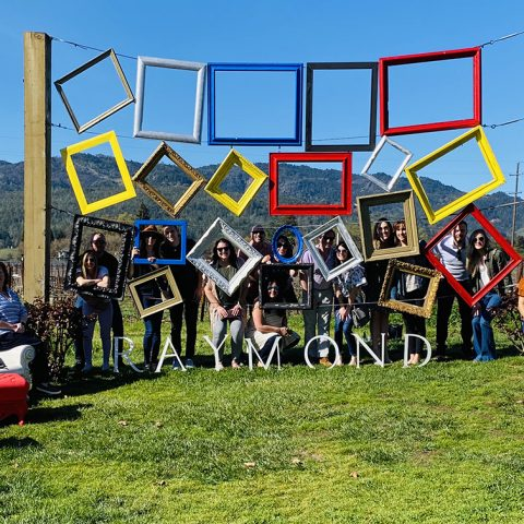 An Inspiring Group Enjoying Their Day At Raymond Vineyard In St. Helena, CA