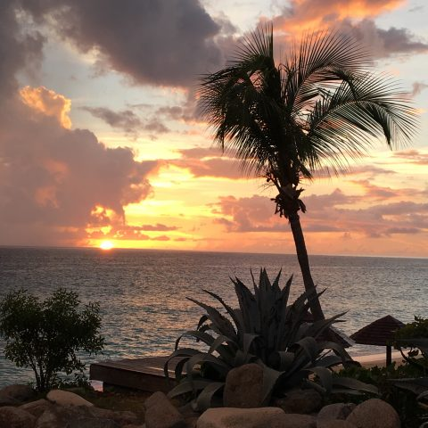 Sunset In Anguilla While Considering The Four Seasons