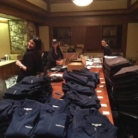 TNE Team Coordinating Registration Packs For The Attendees