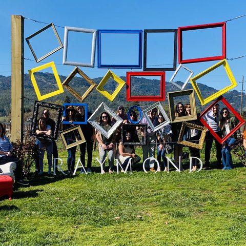 An Inspiring Group Enjoying Their Day At Raymond Vineyard In St. Helena, CA