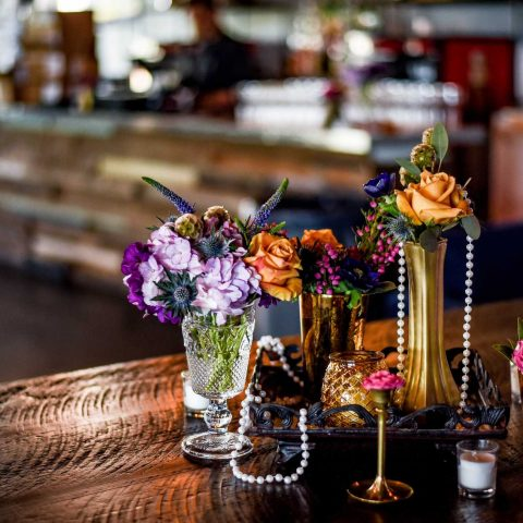 Decor For The Tables At The Prohibition Themed Derby Social
