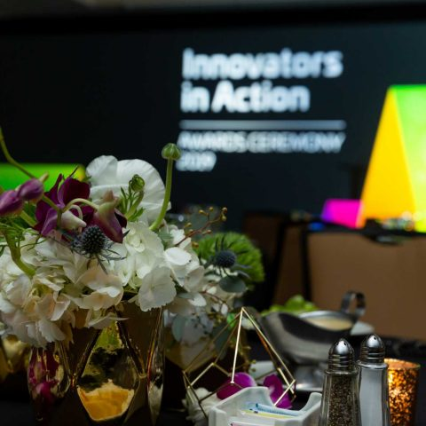 Table Pieces And Stage Set For An Awards Ceremony