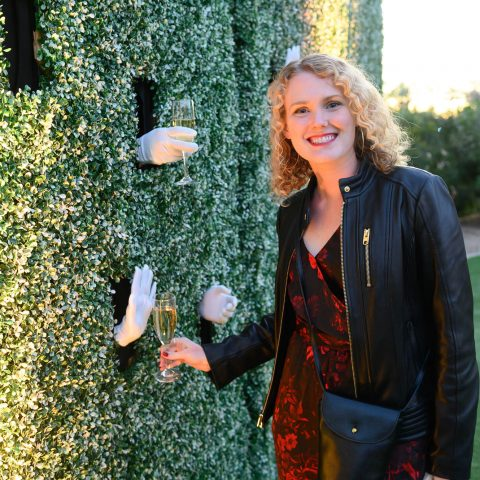 """The Wine Wall """"Handing"""" Out Bubbles"""