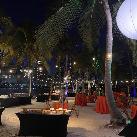 Perfect Evening For A Private Beach Reception And Dinner At The Mandarin Oriental In Miami